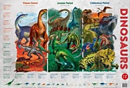 Dinosaurs chart (laminated, 520x760mm)