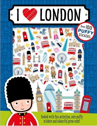 I Love London Puffy Sticker Book