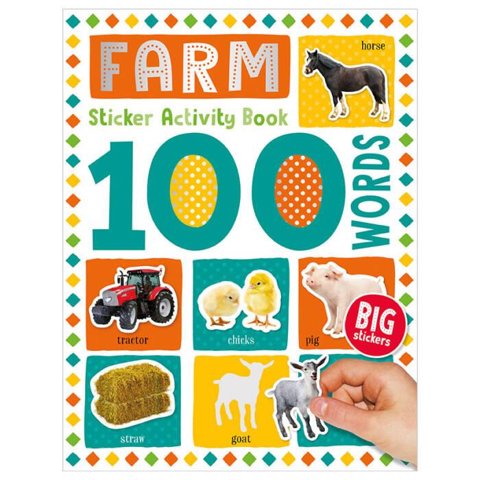 100 Farm Words Sticker Activity
