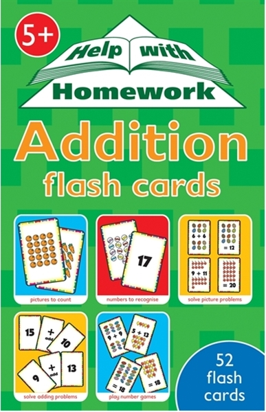 Addition  (52 flash cards)