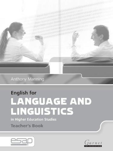 English for Language and Linguistics Teacher's Book