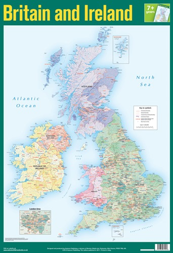 Britain and Ireland chart (laminated, 520x760mm)