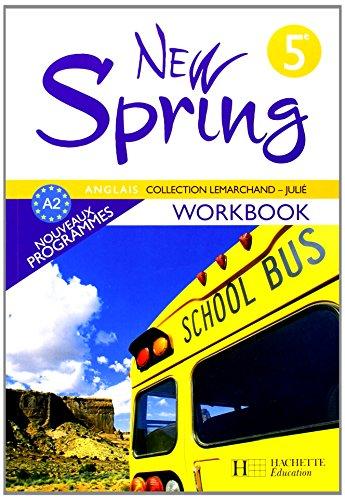 Anglais 5e New Spring cahier
