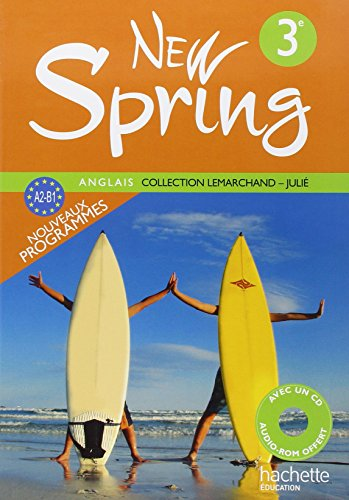 Anglais 3e New Spring (1CD audio)