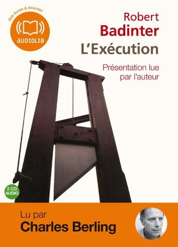 L'Execution 1 Audio CD (Badinter)