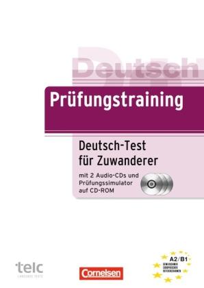 Pruefungstraining A2 - B1  Deutsch-test fuer Zuwanderer +CDs + Pruefungssimulato