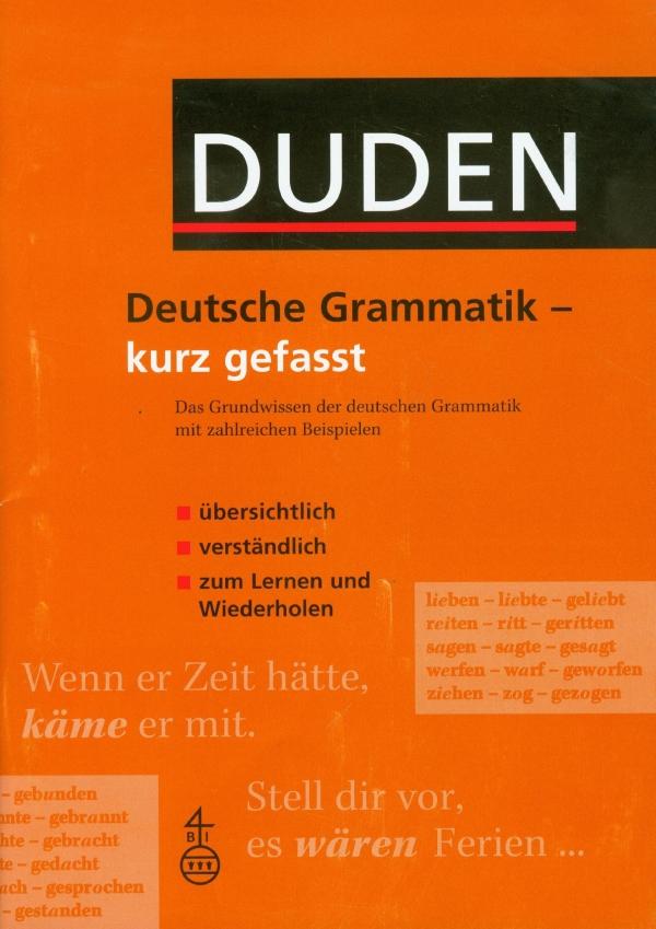 Duden, Deutsche Gramm. - kurz gefasst
