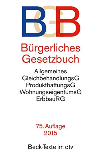 Burgerliches Gesetzbuch BGB