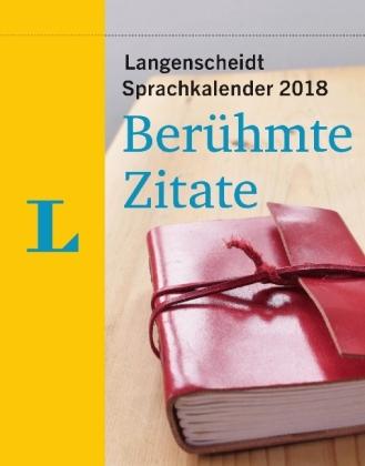 Sprachkalender 2018 Beruehmte Zitate