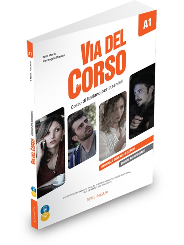 Via del Corso A1 Libro del professore + 2CD+DVD