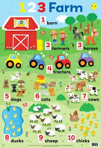 123 Farm chart (laminated, 520x760mm)