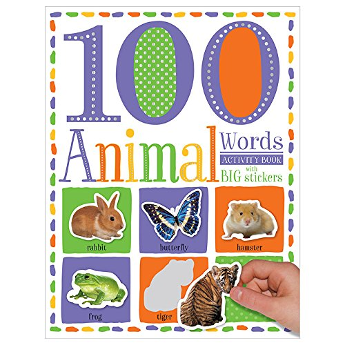 100 First Animal Words - Sticker Activity Book