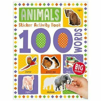 100 Animal Words Sticker Activity
